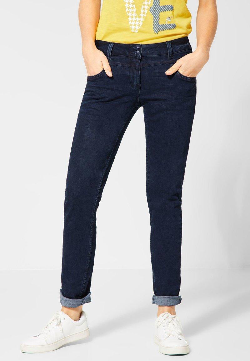 Cecil - CRASH SCARLETT - Jeans Straight Leg - dark-blue denim