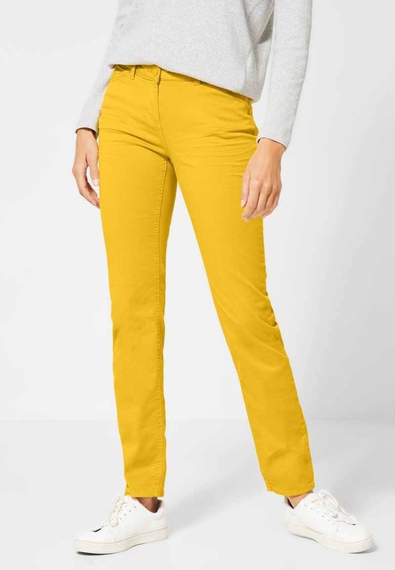 Cecil - VICKY - Jeans Slim Fit - yellow
