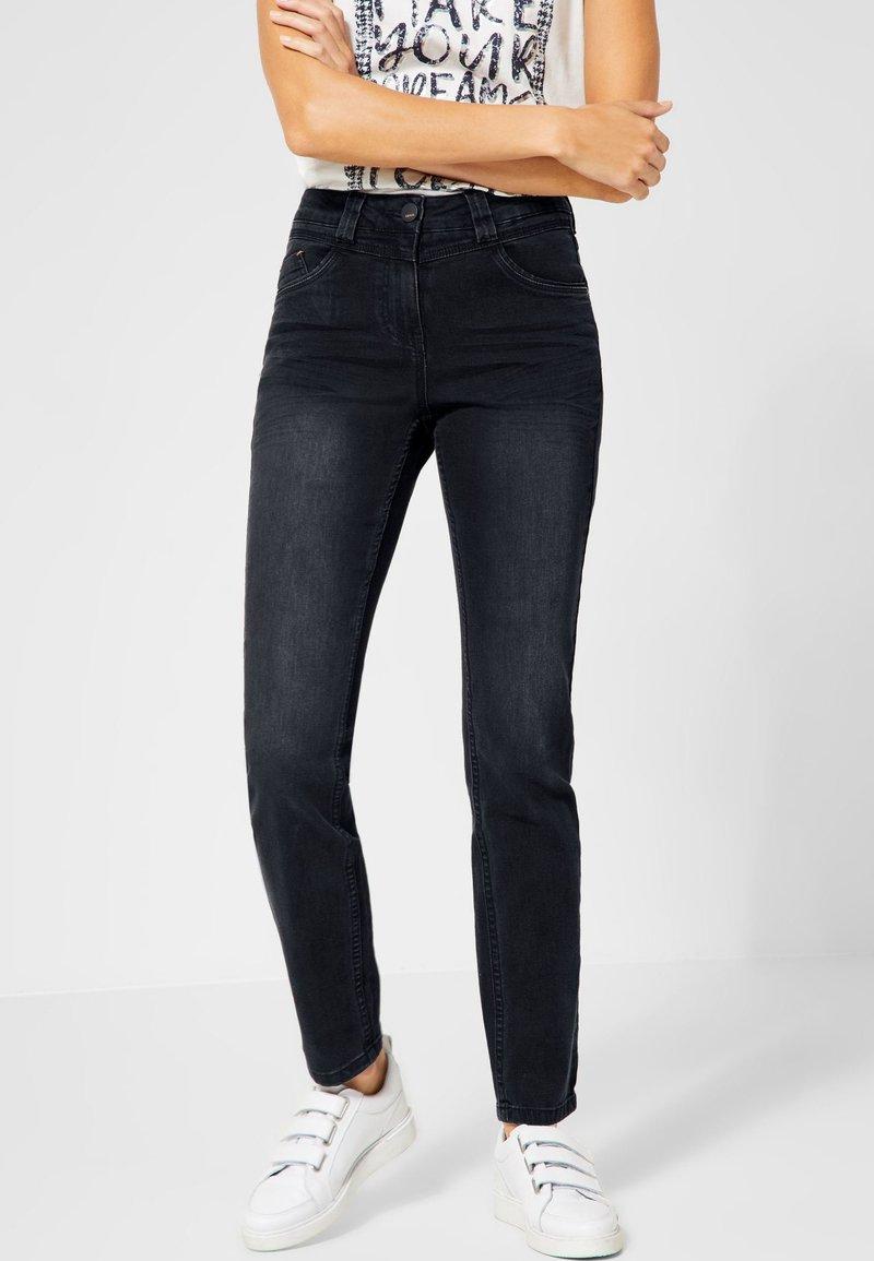 Cecil - TORONTO - Slim fit jeans - black denim