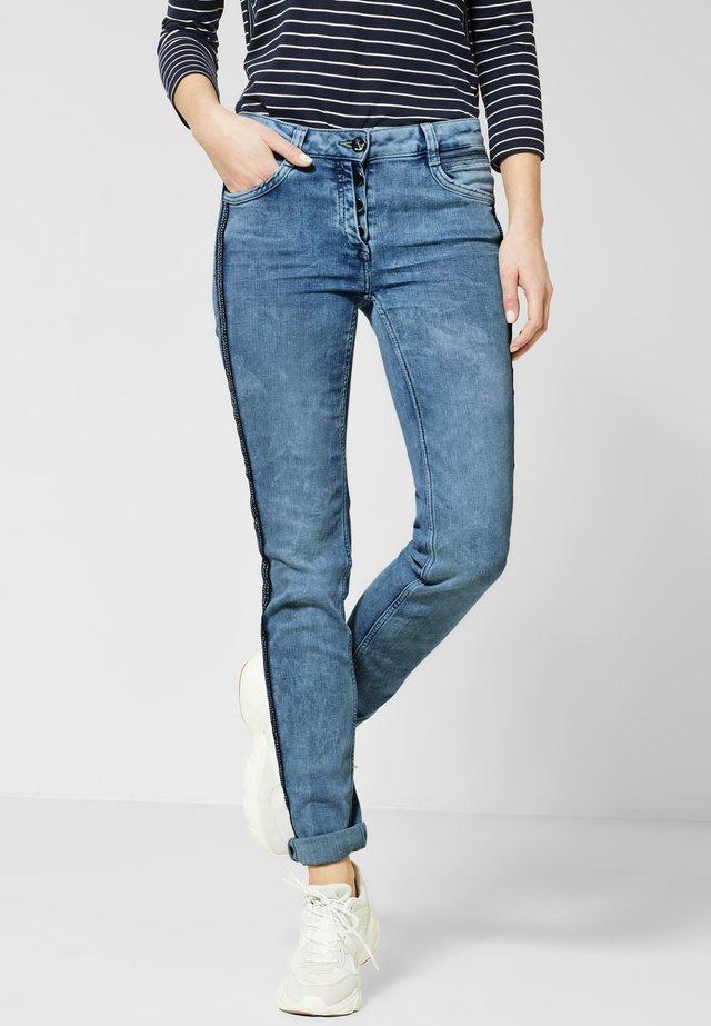 MIT GALON - Slim fit jeans - blue