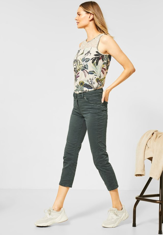 SLIM FIT CRASH-HOSE - Jeans Slim Fit - grün
