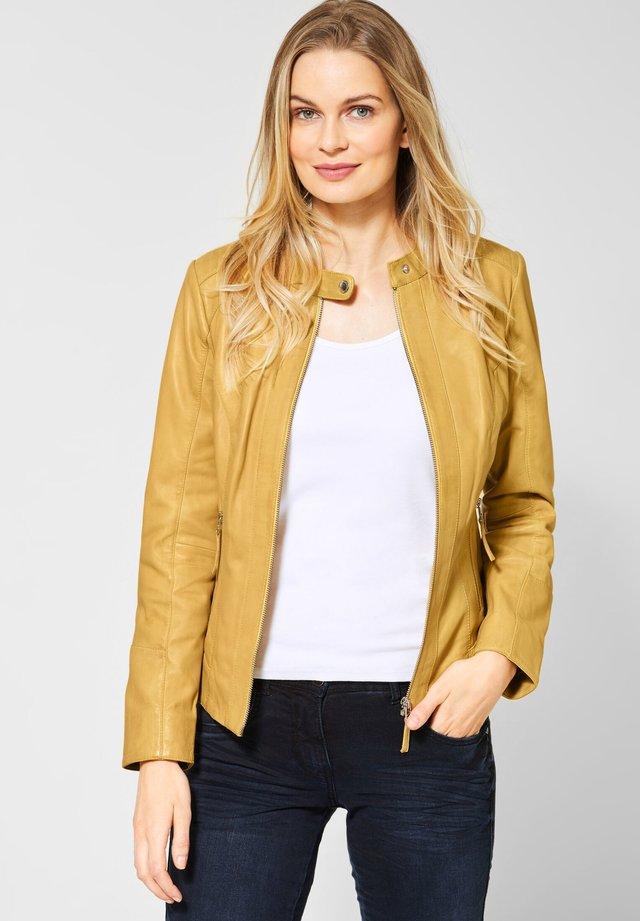 Leather jacket - yellow