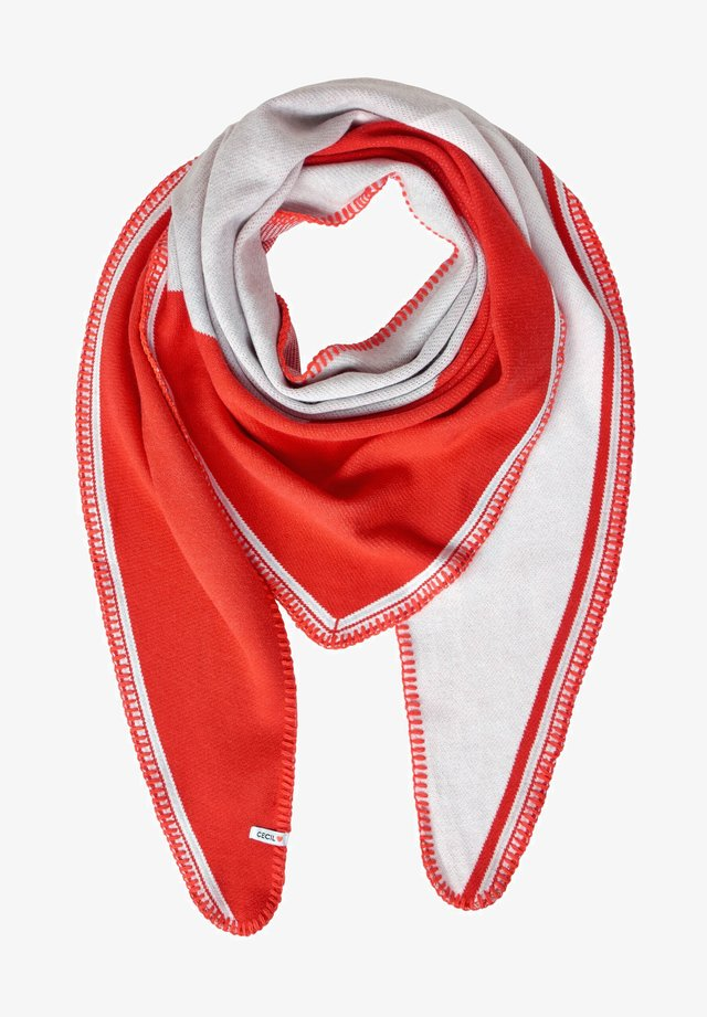 COLOURBLOCK-LOOK - Scarf - red/off-white
