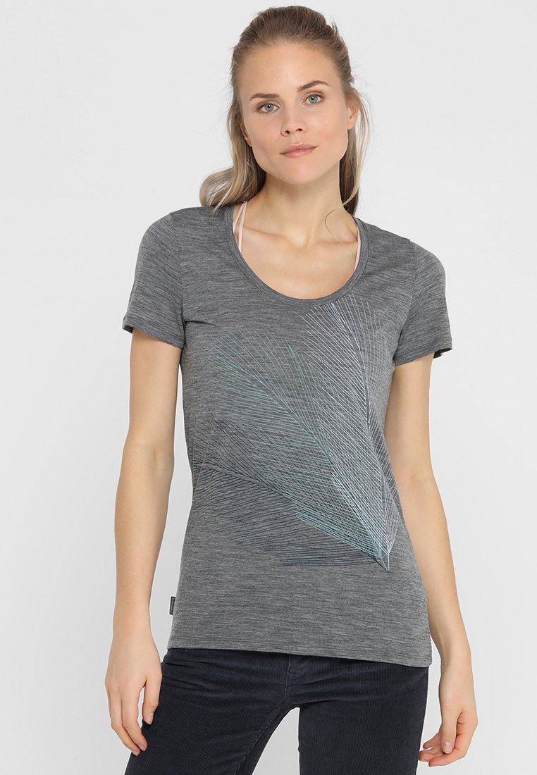 Icebreaker - TECH LITE SCOOP PLUME - T-Shirt print - gritstone heather