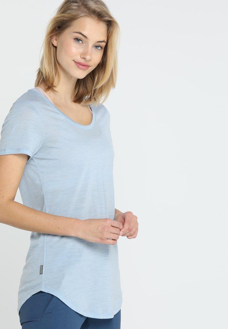Icebreaker - SOLACE SCOOP - T-Shirt print - sky heather