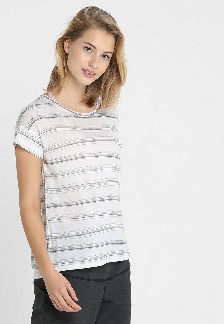 Icebreaker - VIA SCOOP - T-Shirt print - enamel heather/panther