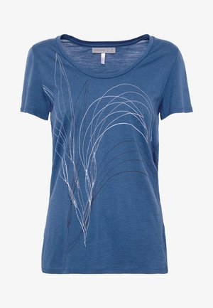 TECH LITE SCOOP LEAF - T-shirt z nadrukiem - estate blue