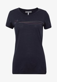 Icebreaker - TECH LITE LOW CREWE CADENCE PATHS - Print T-shirt - midnight navy - 3