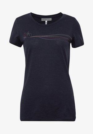 TECH LITE LOW CREWE CADENCE PATHS - T-shirts print - midnight navy