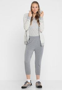 Icebreaker - MOMENTUM PANTS - Tracksuit bottoms - fossil/snow heather - 1