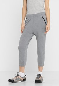 Icebreaker - MOMENTUM PANTS - Tracksuit bottoms - fossil/snow heather - 0