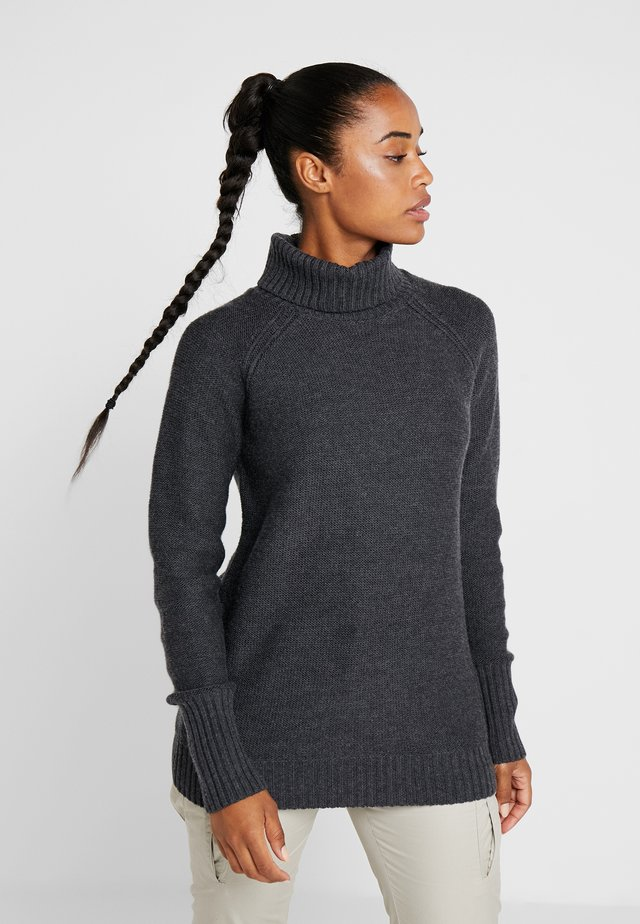 WAYPOINT ROLL NECK - Neule - mottled anthracite