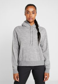 Icebreaker - TABI REAL FLEECE PULLOVER HOODY - Huppari - heather - 0
