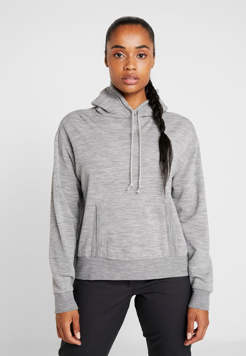 Icebreaker - TABI REAL FLEECE PULLOVER HOODY - Huppari - heather