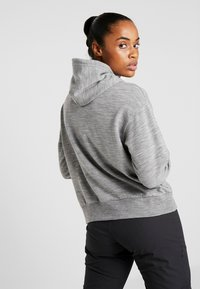 Icebreaker - TABI REAL FLEECE PULLOVER HOODY - Huppari - heather - 2