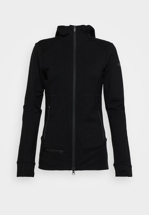 QUANTUM ZIP HOOD - veste en sweat zippée - black