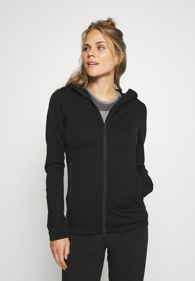 QUANTUM ZIP HOOD - Sweatjacke - black