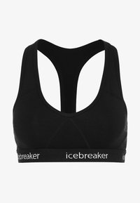 Icebreaker - SPRITE RACERBACK BRA - Biustonosz sportowy - black - 4