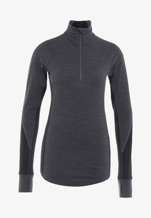 ZONE HALF ZIP - Koszulka sportowa - jet heather/black