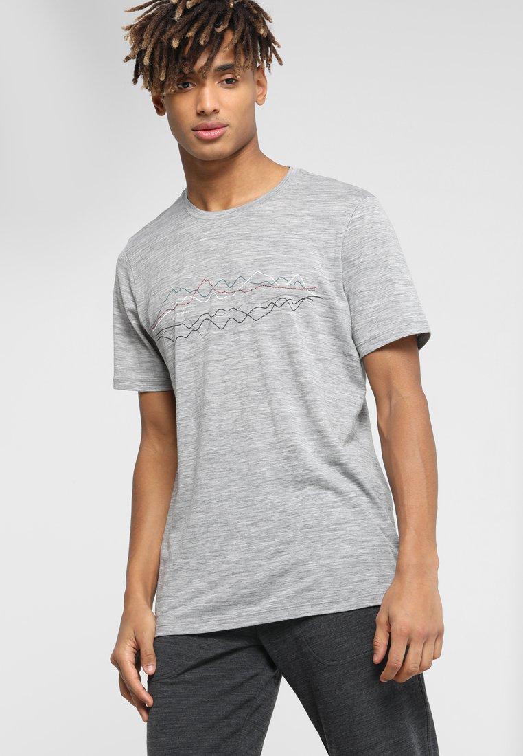 Icebreaker - MENS TECH CREWE ORIGINAL - Print T-shirt - heather