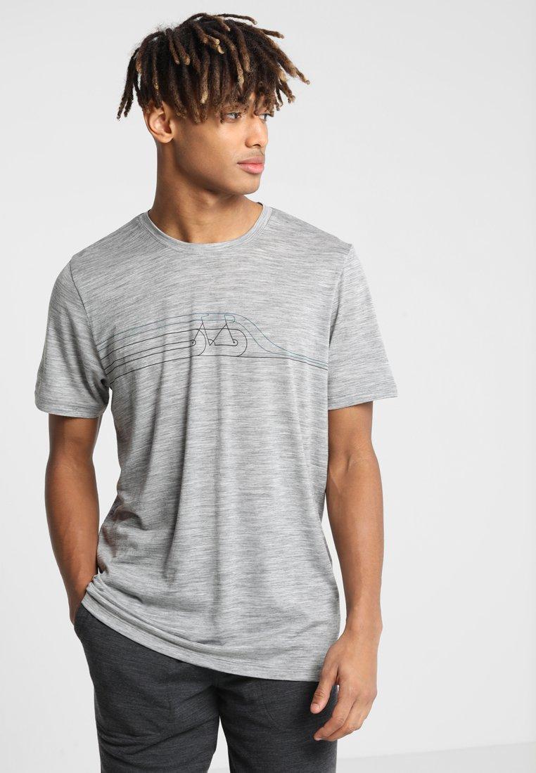 Icebreaker - MENS TECH LITE CREWE CADENCE PULSE - T-shirts print - heather