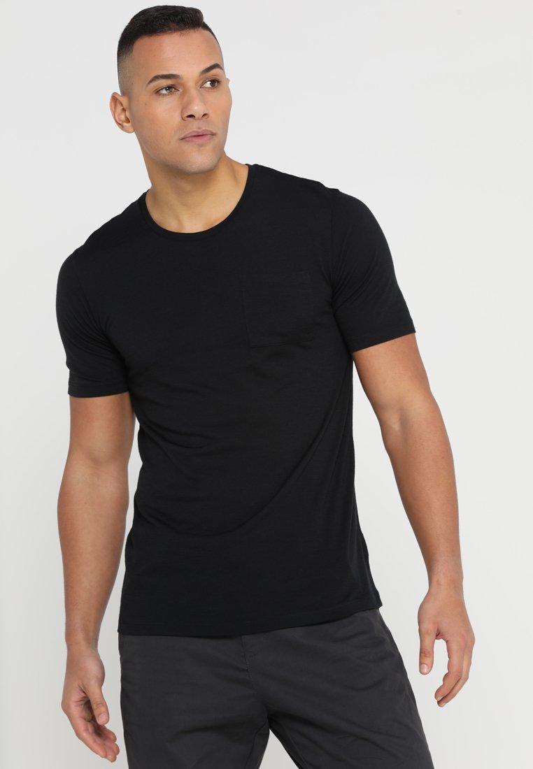 Icebreaker - MENS SOLACE POCKET CREWE - T-shirt basic - black