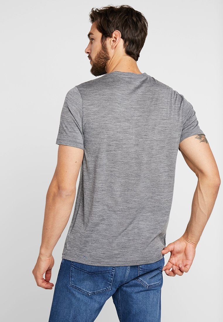 Icebreaker BEAR LIFT - T-shirt imprimé gritstone heather