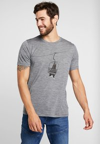 Icebreaker - BEAR LIFT - Print T-shirt - gritstone heather - 0