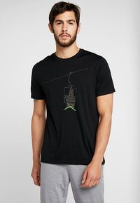 Icebreaker - BEAR LIFT - T-Shirt print - black - 0