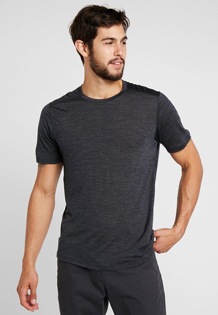 Icebreaker - MENS SPHERE CREWE - T-shirts basic - black heather