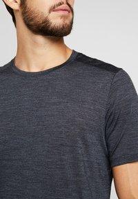 Icebreaker - MENS SPHERE CREWE - T-shirts basic - black heather - 3