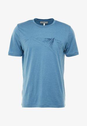 MENS TECH LITE CREWE PEAK IN REACH - T-Shirt print - petrol
