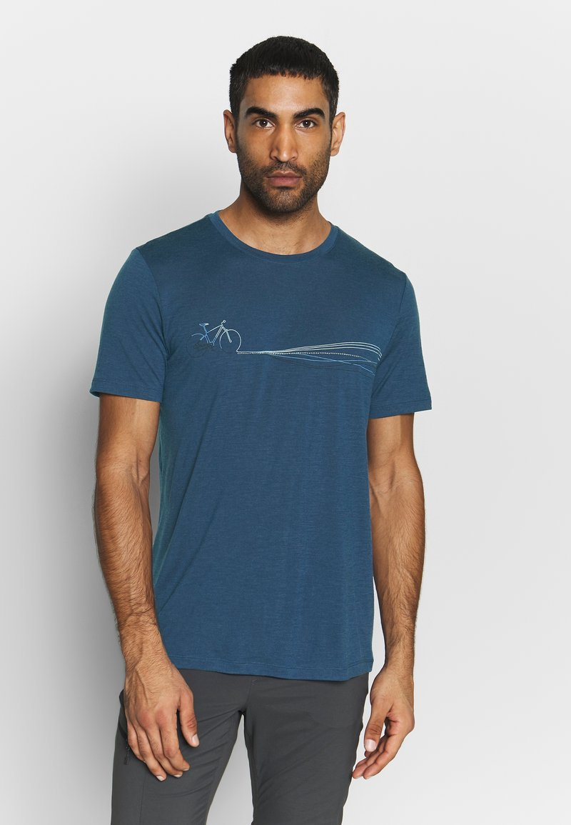Icebreaker - TECH LITE CREWE CADENCE PATHS - T-shirts print - estate blue