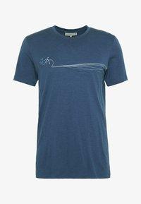 Icebreaker - TECH LITE CREWE CADENCE PATHS - T-shirts print - estate blue - 4