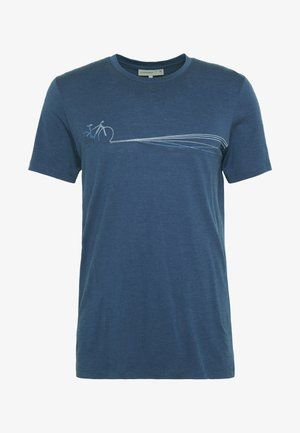 TECH LITE CREWE CADENCE PATHS - T-Shirt print - estate blue