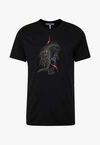 Icebreaker - TECH LITE CREWE QUILL - T-shirts print - black - 3