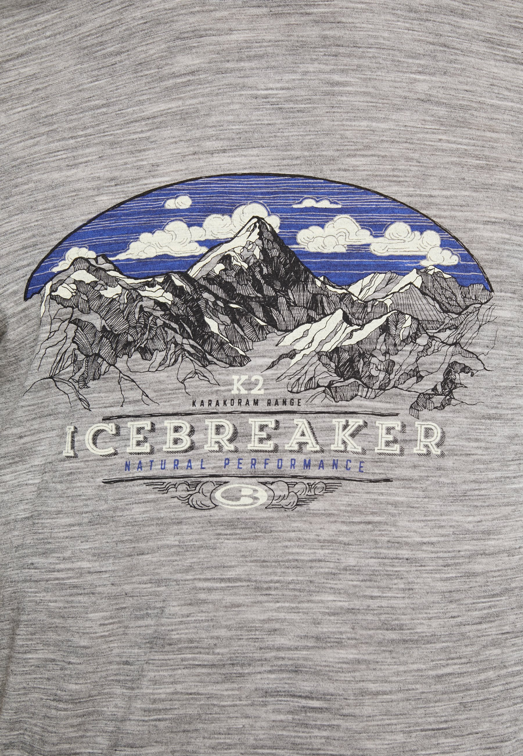 Icebreaker Tech Lite Crewe Crest - T-shirt Med Print Heather