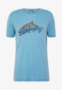 Icebreaker - TECH LITE CREWE TETONS SALMON - T-shirts print - waterfall - 3