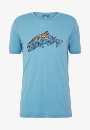 TECH LITE CREWE TETONS SALMON - T-shirt med print - waterfall