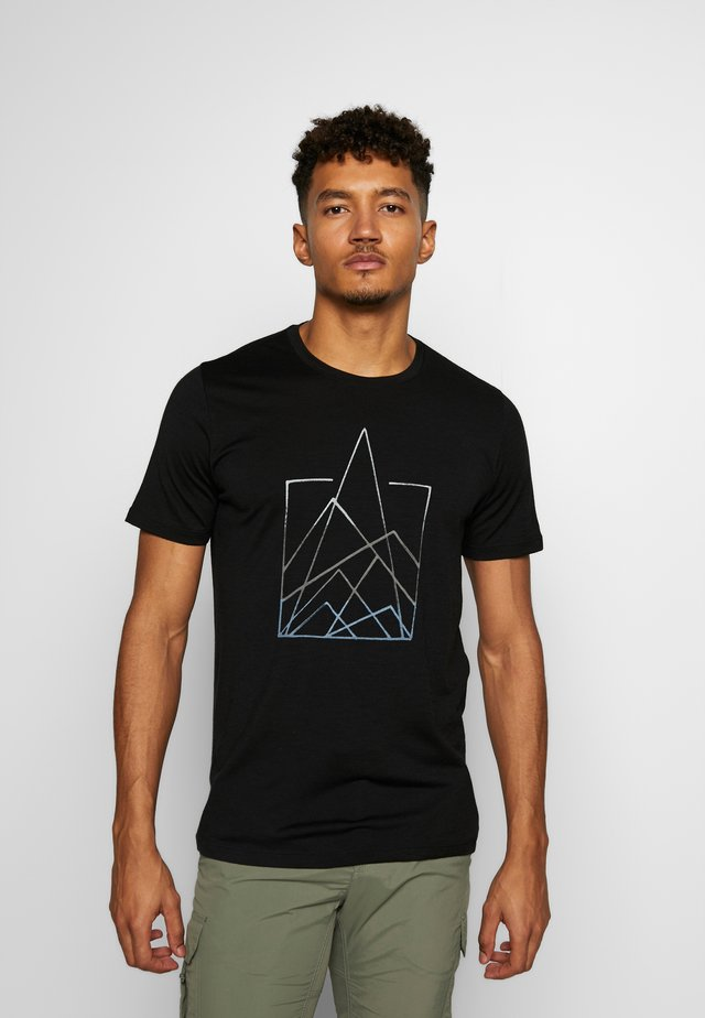 TECH LITE - Print T-shirt - black