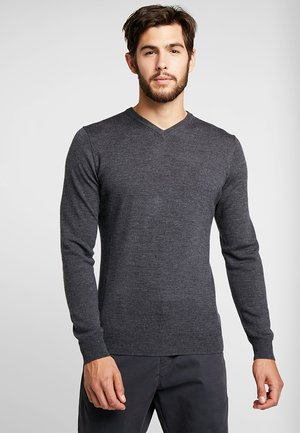 MENS SHEARER V - Jumper - charcoal/heather