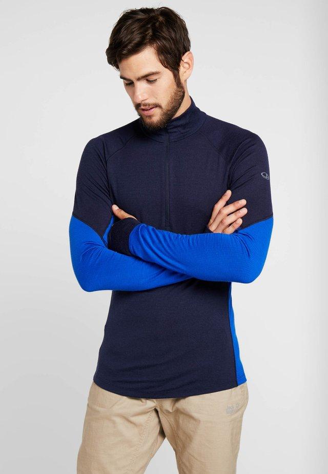 MENS ZONE HALF ZIP - Sports shirt - midnight navy/surf