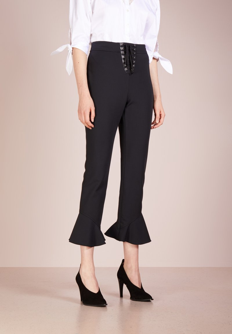 Opening Ceremony - WILLIAM LACE UP PANT - Trousers - black