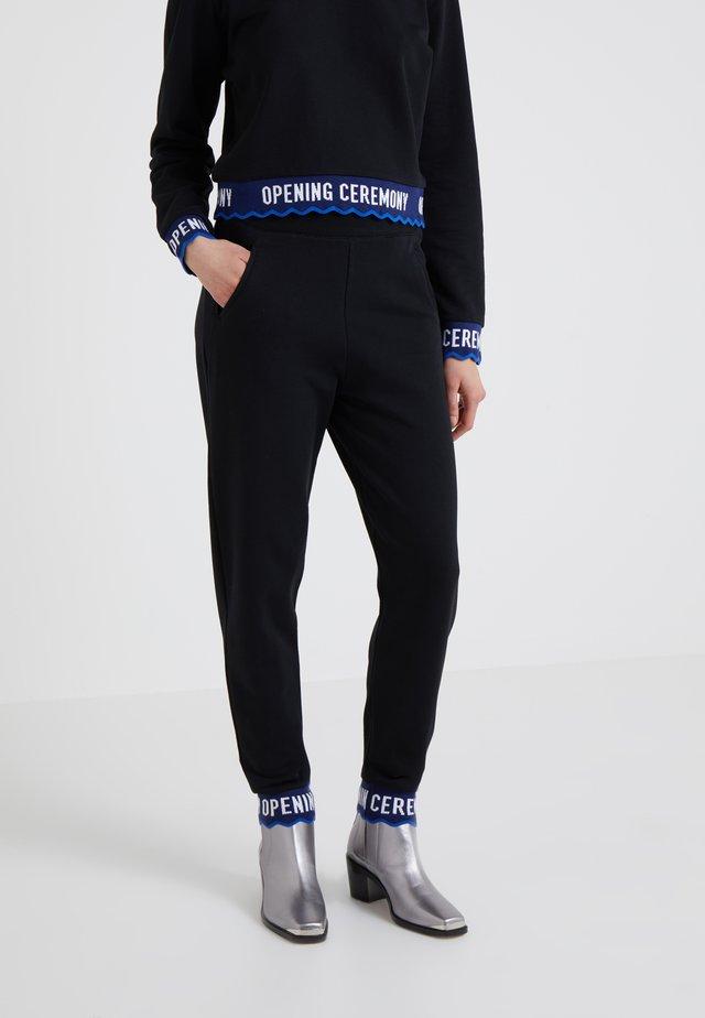 SCALLOP CROP  - Pantalon de survêtement - black