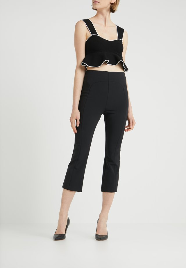 PEDAL PUSHER PANT - Stoffhose - black