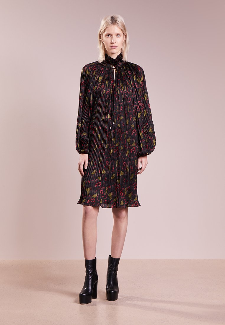 Opening Ceremony - FLORAL PLEATED DRESS - Robe de soirée - jewel red