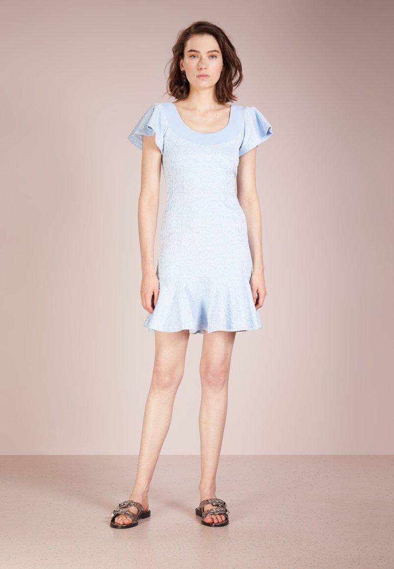 Opening Ceremony - FLORAL MINI DRESS - Freizeitkleid - pastel blue