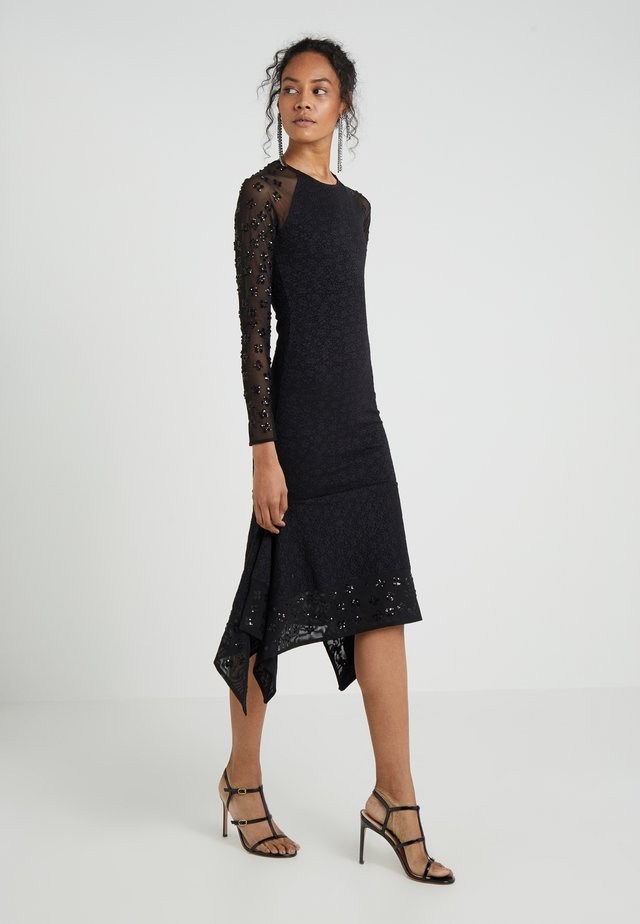 SEQUIN MIDI DRESS - Cocktailkleid/festliches Kleid - black