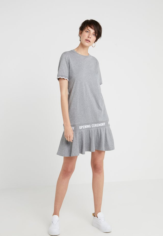 SCALLOP LOGO DRESS - Jerseykleid - heather grey