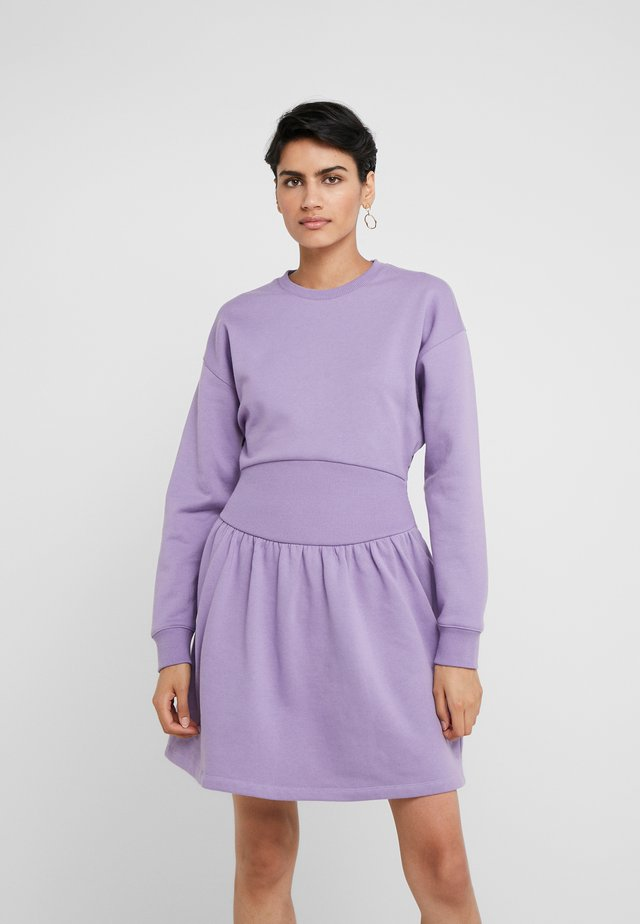 MINI RIB DRESS - Hverdagskjoler - purple